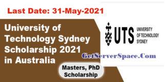 University of Technology Sydney Scholarship2021 in Australia