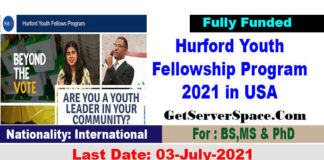 Hurford Youth Fellowship Program 2021 in the United States [Fully Funded]