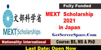 MEXT Japanese Government Scholarship 2021 in Japan [Fully Funded]
