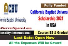 California Baptist University Scholarship 2021 in USA [Fully Funded]