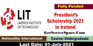 Limerick Institute of Technology President's Scholarship 2021 in Ireland