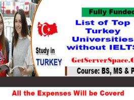 List of Top Turkey Universities without IELTS for International Students