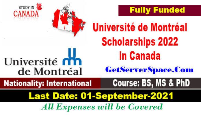 Université de Montréal Scholarships 2022 in Canada [Fully Funded]