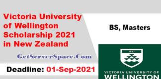 Victoria University of Wellington Scholarship 2021 in New Zealand