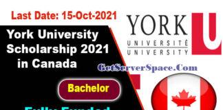 York University Scholarship 2021 in Canada Funded