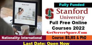 Full Free Online Courses 2022 by Stanford University