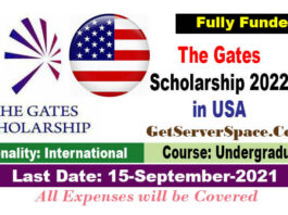 Gates Scholarship 2022 in USA for International Students Fully Funded