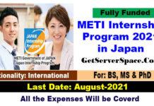 METI Internship Program 2021 in Japan Fully Funded