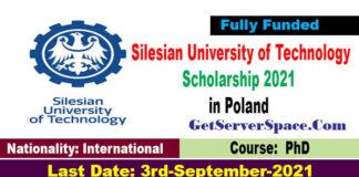 Silesian University of Technology Scholarship 2021 in Poland Fully Funded: