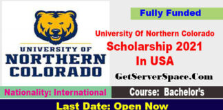 University Of Northern Colorado Scholarship 2021 In USA Fully Funded