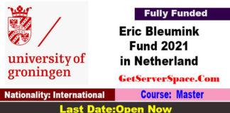 University of Groningen Eric Bleumink Fund 2021 in Netherland Funded