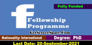 42,000$ Stipend Facebook Fellowship 2022 in USA Fully Funded