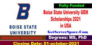 Boise State University GEM Scholarships 2021 in USA [Fully Funded]