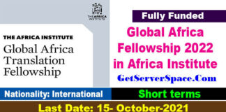 Global Africa Translation Fellowship 2022 in The Africa Institute