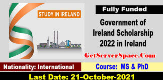 Government of Ireland Postgraduate Scholarship 2022 [FULLY FUNDED]