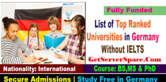 List of Top Ranked Universities in Germany Without IELTS