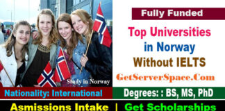 List of Top Universities in Norway Without IELTS