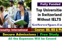List of Top Universities in Switzerland Without IELTS
