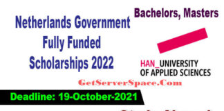 Netherlands Government Fully Funded Scholarships 2022