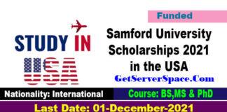 Samford University Scholarships 2021 in the USA Funded