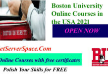 Boston University Online Courses in the USA 2021