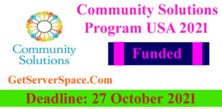 Community Solutions Program, Funded Stay at the USA 2021