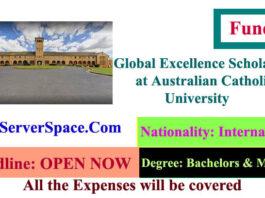 Global Excellence Scholarships 2021 at Australian Catholic University