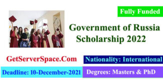 Russian Government Open Doors Scholarship 2022 Fully Funded