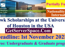 Hawk Funded Scholarships 2021 at the University of Houston in the USA