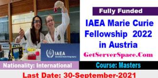 IAEA Marie Sklodowska-Curie Fellowship Programme 2022 in Austria