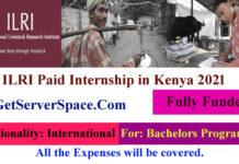 ILRI Paid Internship in Kenya For International Students 2021