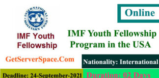 IMF Youth Fellowship Program for the young leaders in the USA 2021