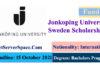 Jonkoping University Sweden Erasmus+ Funded Scholarship 2022