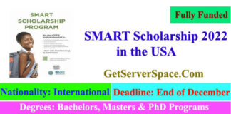 SMART Fully Funded Scholarship 2022 in the USA