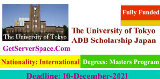 The University of Tokyo ADB Fully Funded Scholarship 2022 in Japan