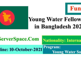 Young Water Funded Fellowship Program in Bangladesh 2021