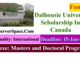 Dalhousie University Funded Scholarship In Canada 2022