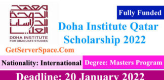 Doha Institute Fully Funded Scholarship 2022 in Qatar