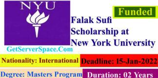 Falak Sufi Scholarship at New York University 2022