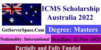 ICMS Fully & Partially Funded Scholarship Australia 2022