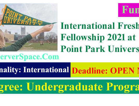International Freshman Fellowship 2021 at Point Park University in the USA