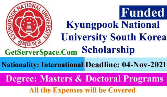 Kyungpook National University in South Korea Scholarship 2022