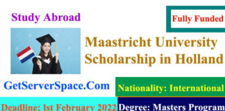 Maastricht University Fully Funded Scholarships 2022 in Holland