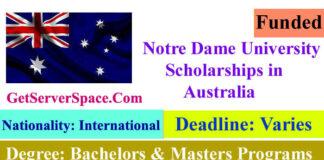 Notre Dame University Scholarships in Australia 2022