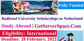 Radboud University Fully Funded Scholarships 2022 in the Netherland