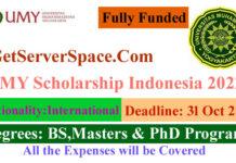 UMY Fully Funded Scholarship Indonesia 2022